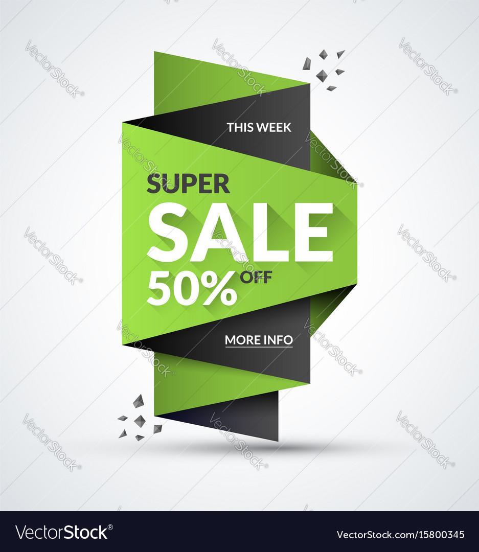 Super sale banner special offer concept