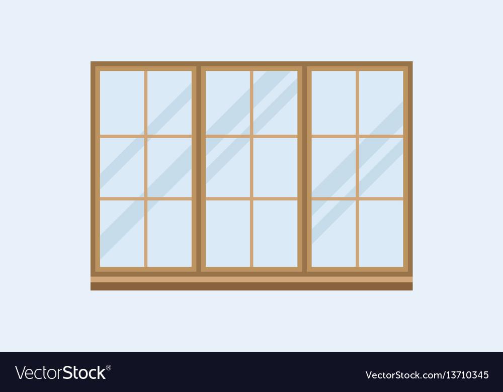 Type of house windows element isolated flat style