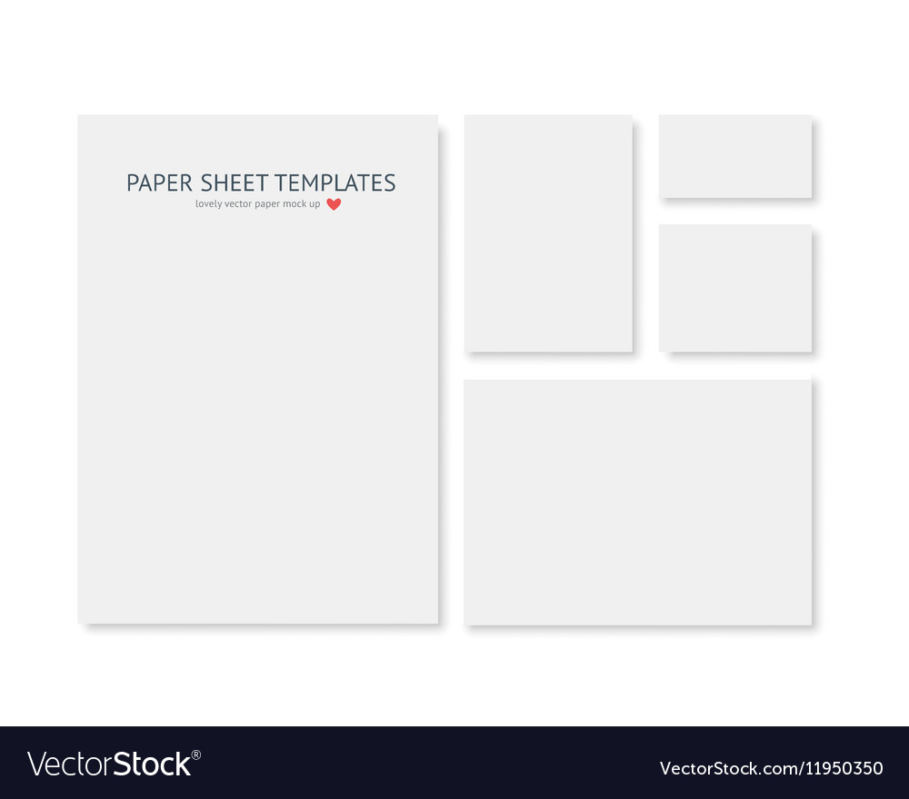 Blank Stationery And Corporate Identity Template Consist: Blank Stationery And Corporate Identity Template Vector Image