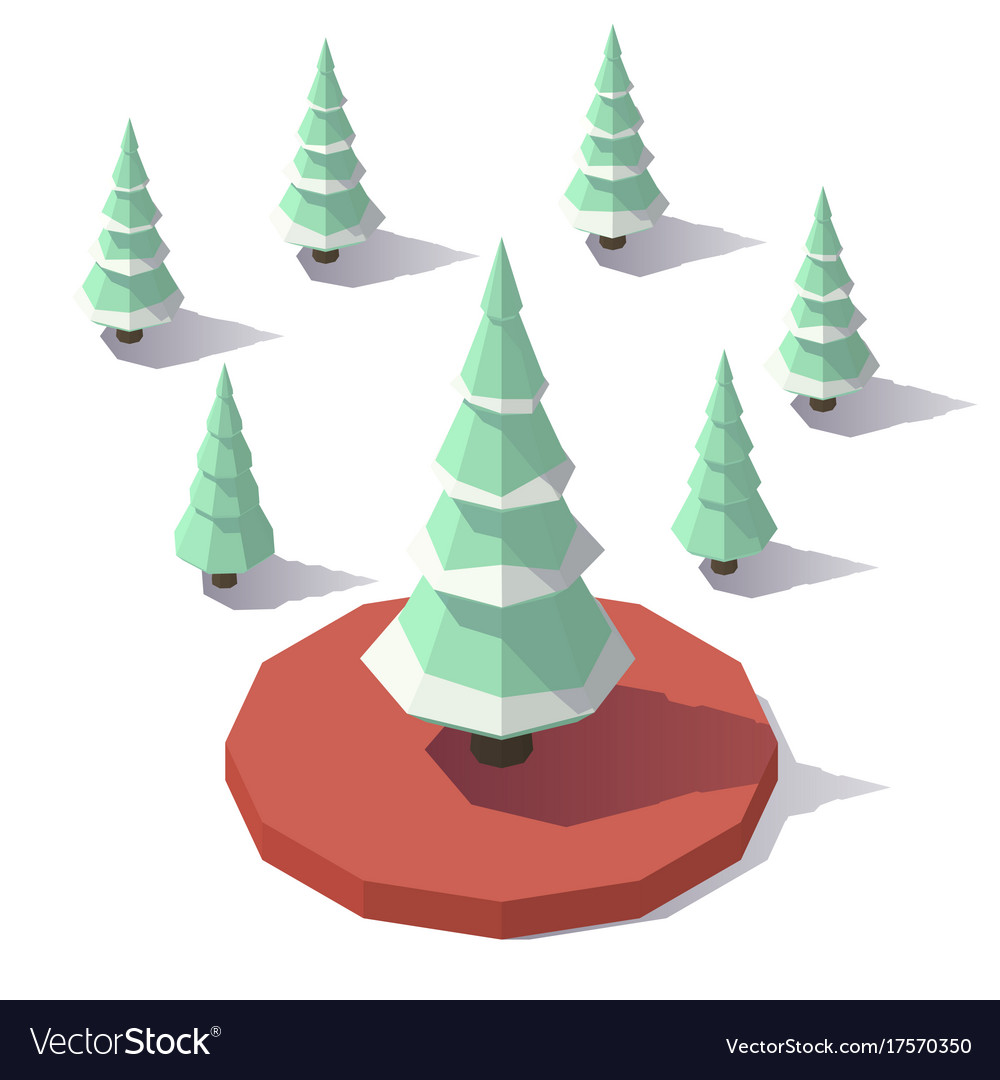 Christmas tree in the snow vector image
