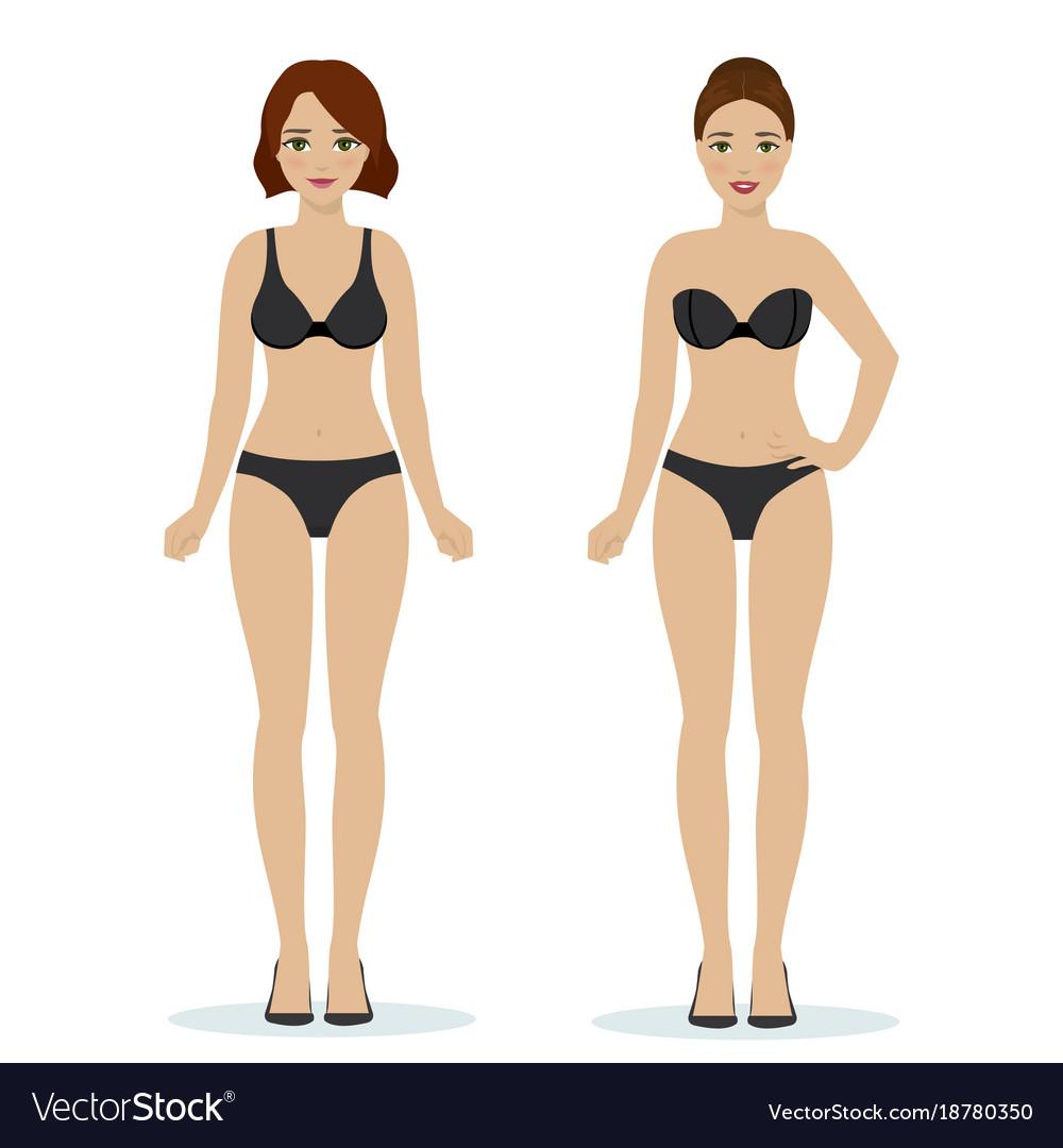 Girls in black underwear