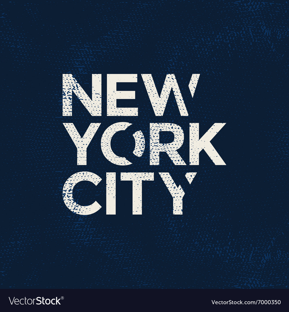 New york city typography t-shirt graphics