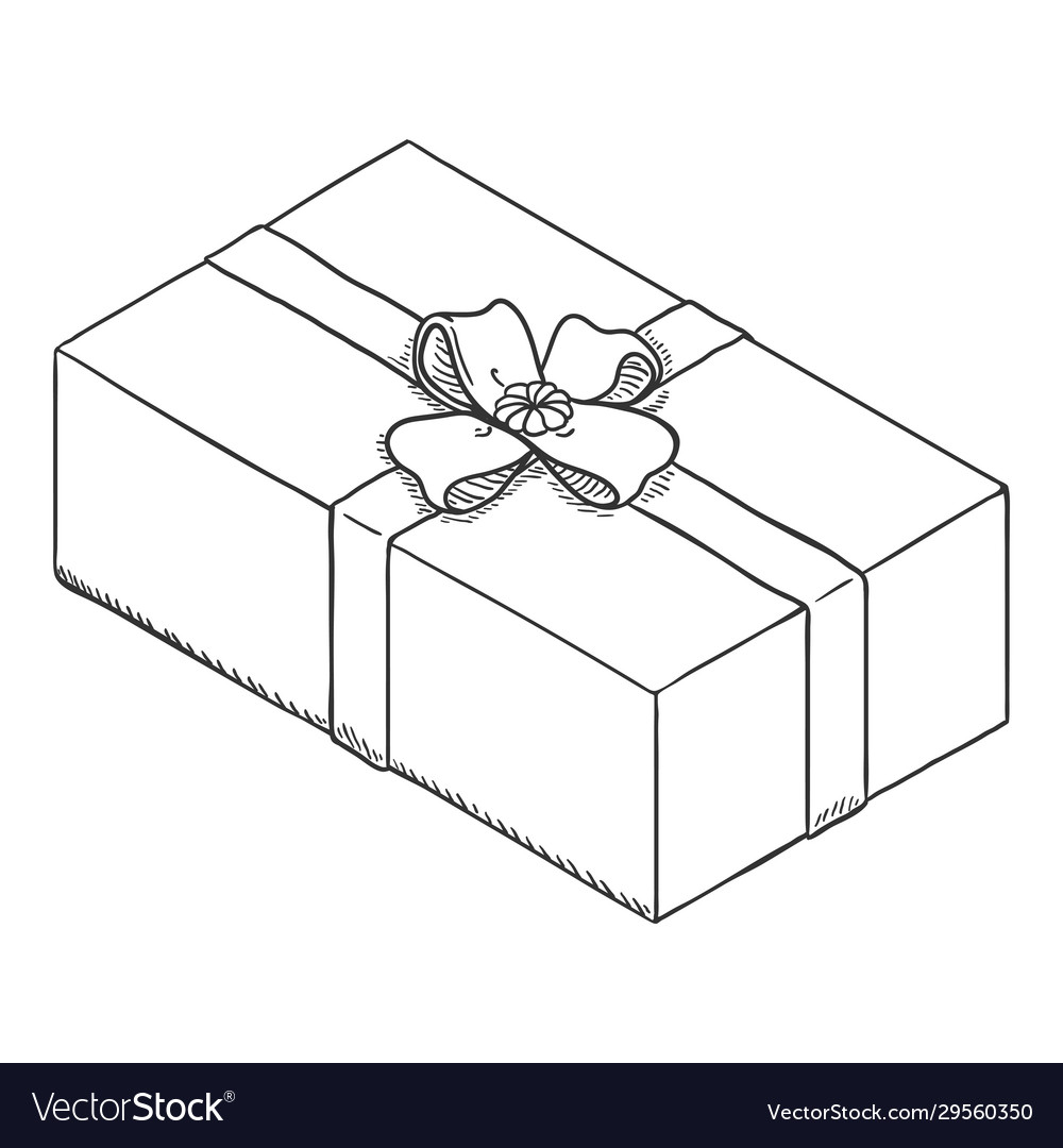Open Box Clipart Black And White Vector Images 75