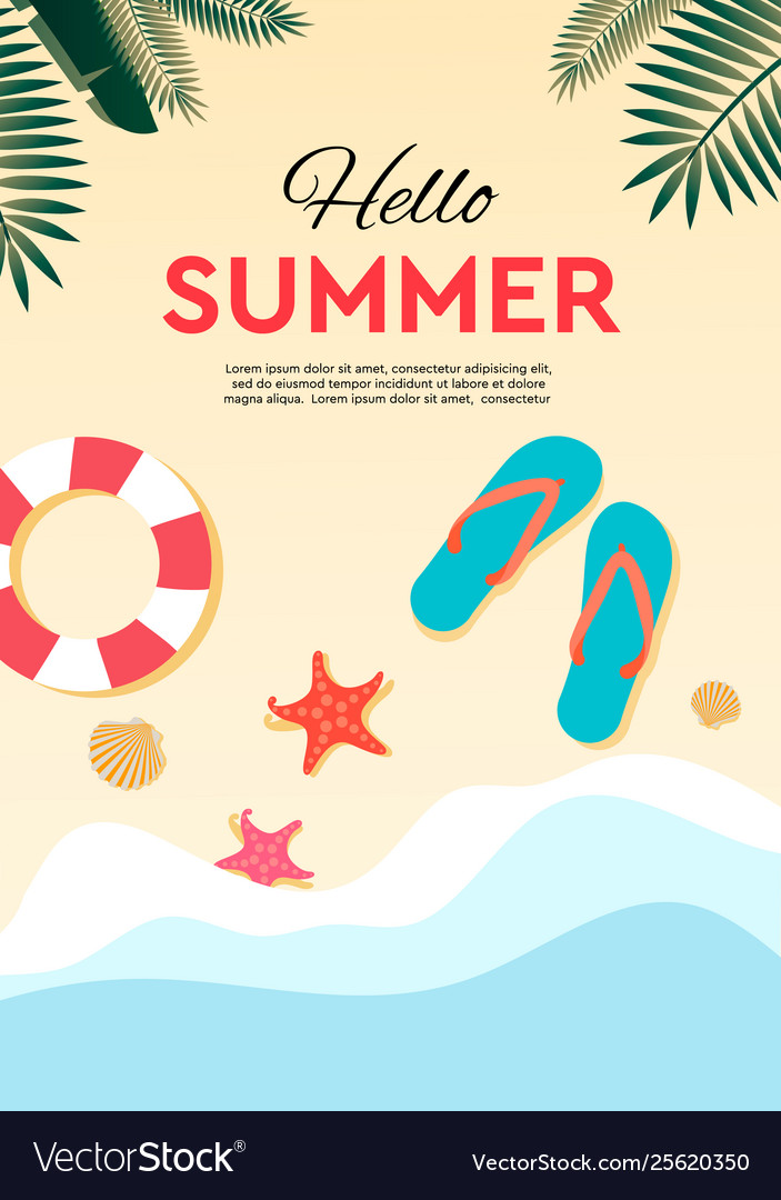 Summer holidays and tropical vacation poster or