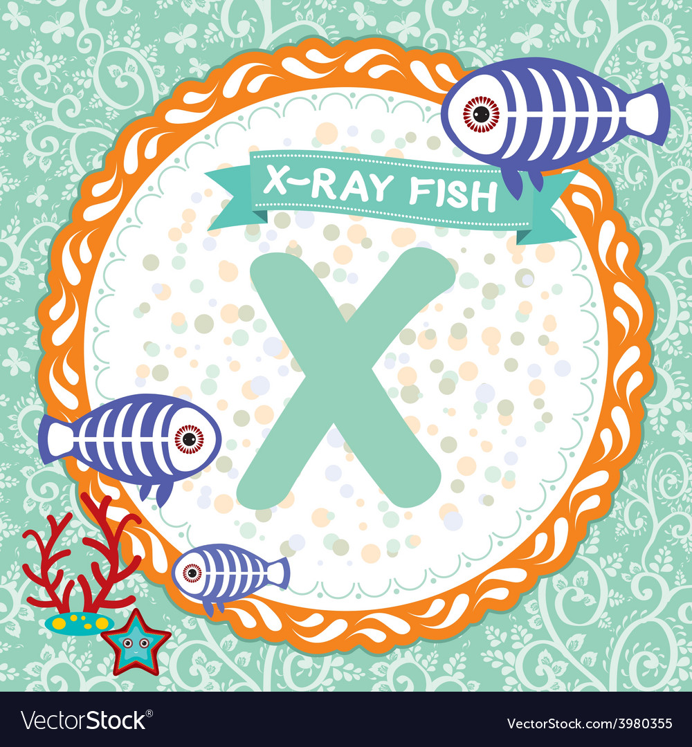 ABC animals X is X-ray fish Childrens english