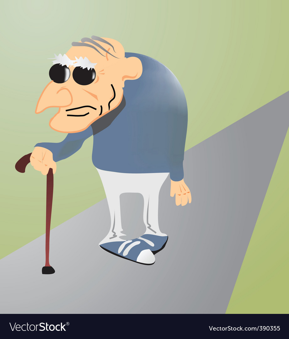 Cartoon old man vector image