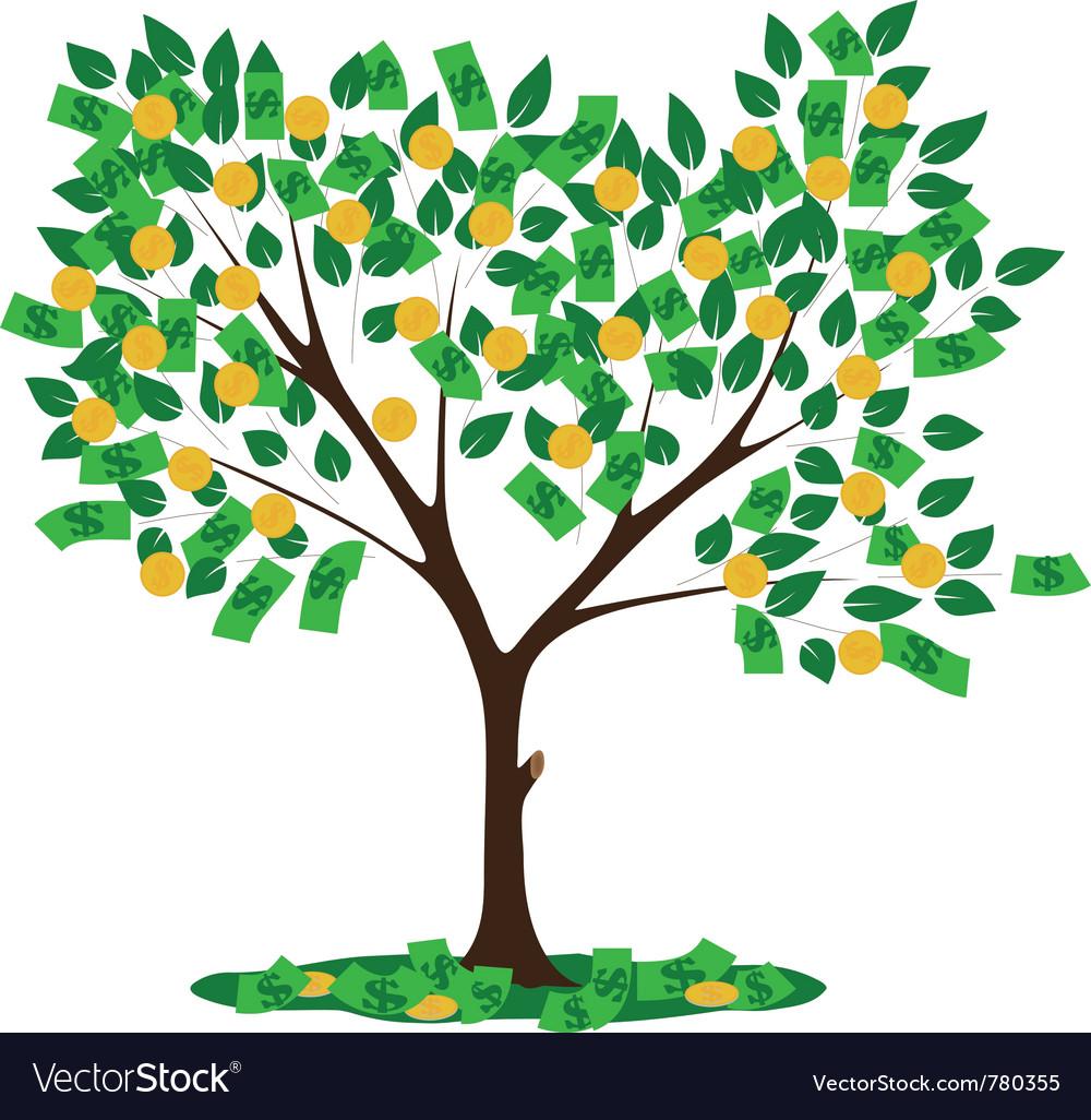 money tree royalty free vector image vectorstock rh vectorstock com Funny Money Clip Art Cartoon Money Clip Art