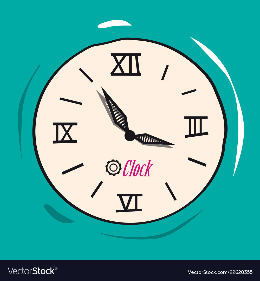 Retro analog flat clock