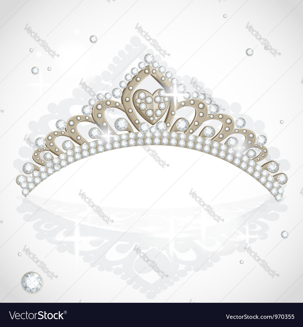 Shining tiara with diamonds