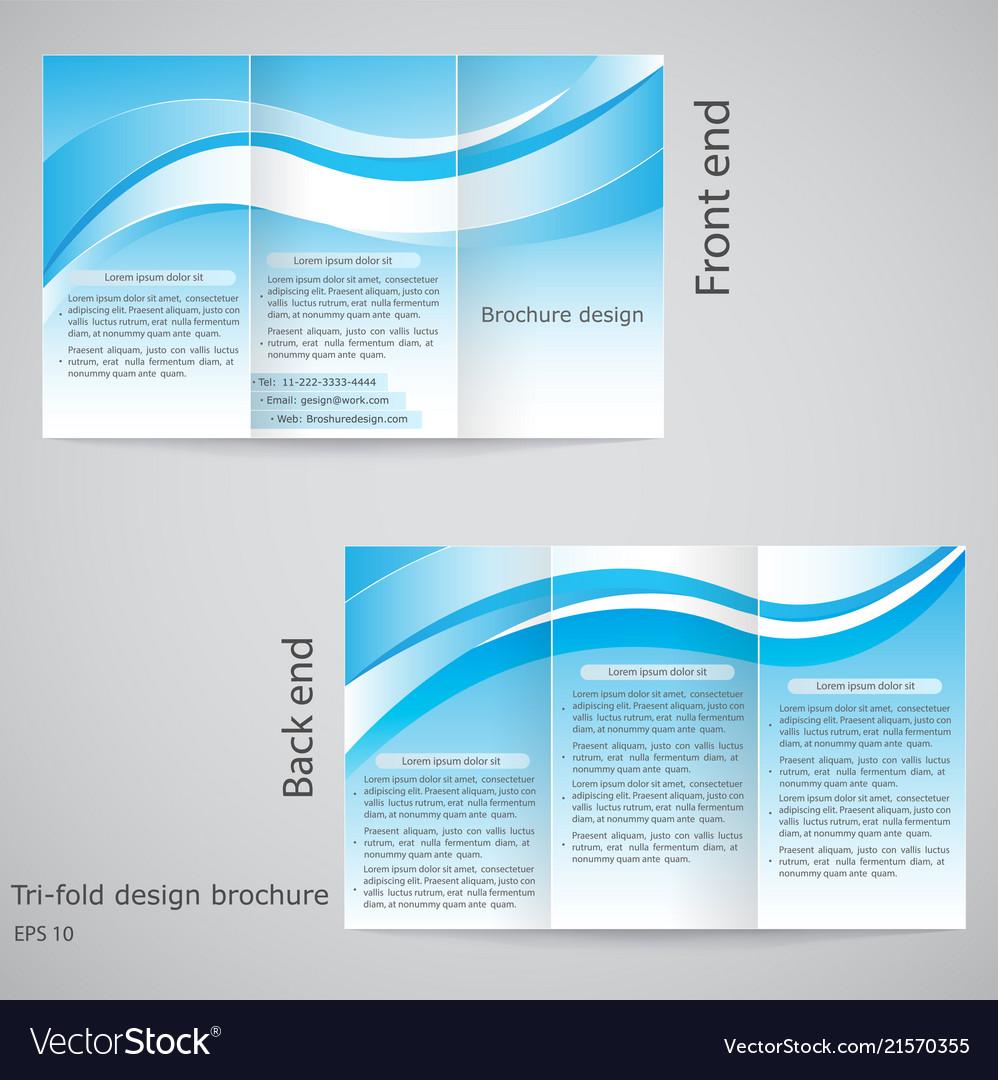 tri fold brochure design brochure template design vector image
