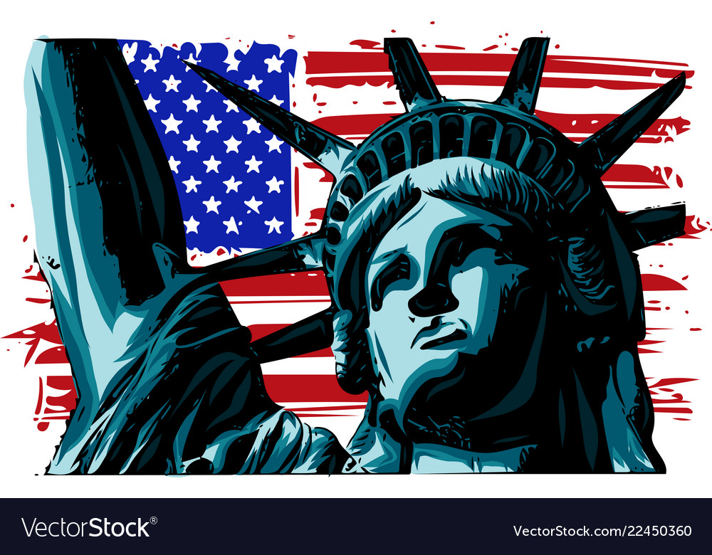 American liberty statue icon