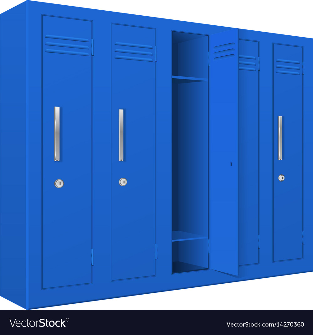 Blue School Lockers Royalty Free Vector Image Vectorstock
