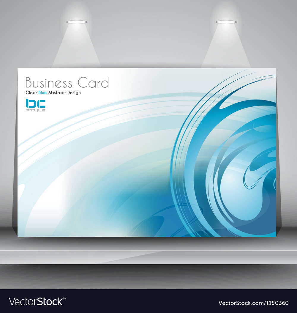 Elegant business card design template Royalty Free Vector
