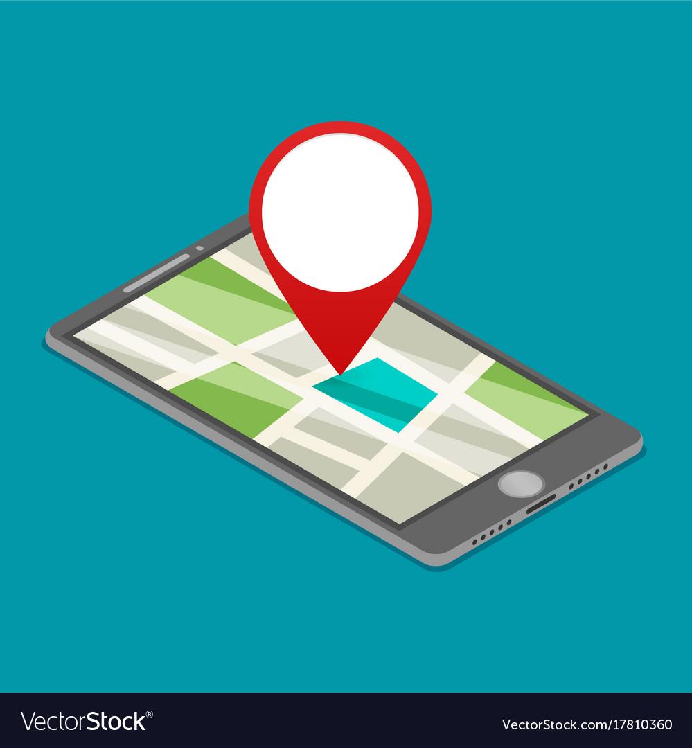 Flat gps navigation on phone