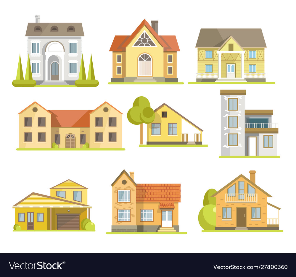Houses and suburban residential buildings of