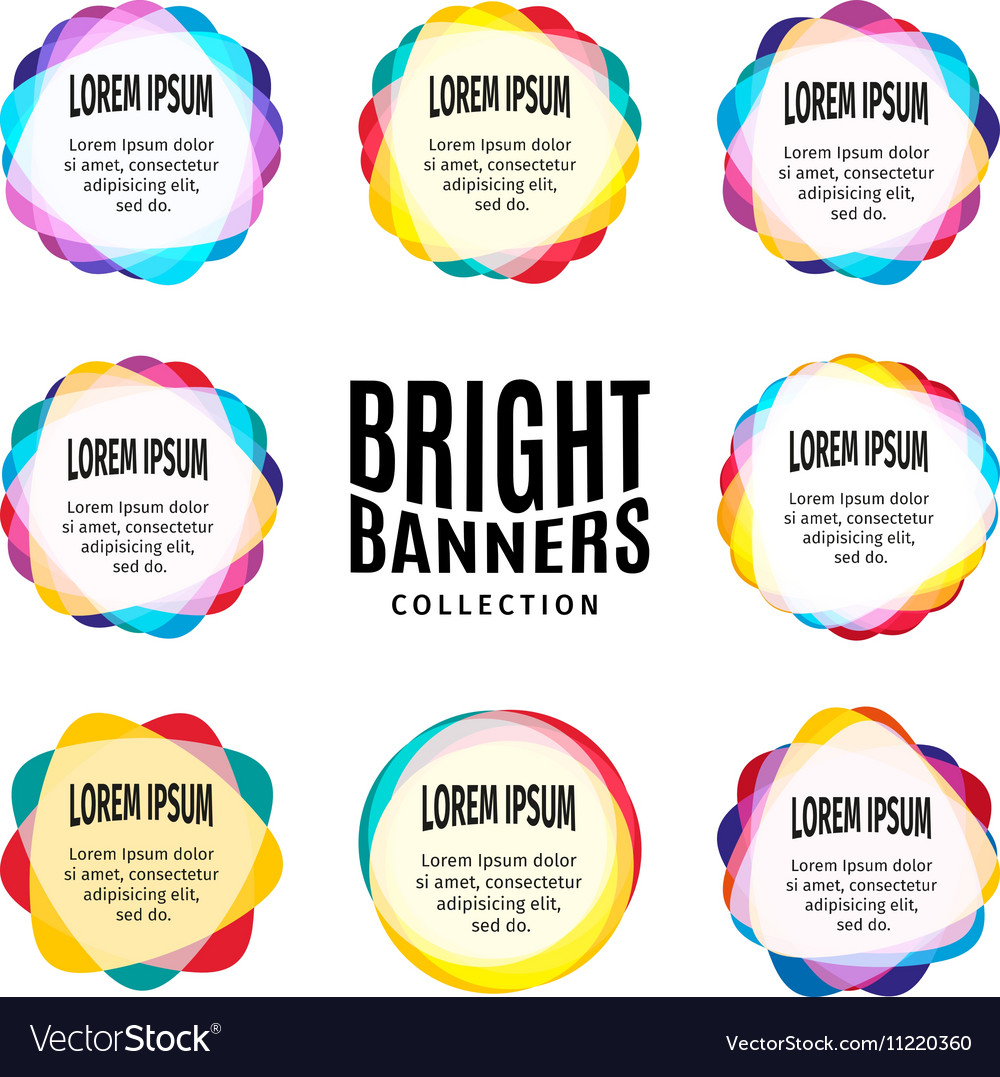 Isolated abstract bright colorful round shape logo