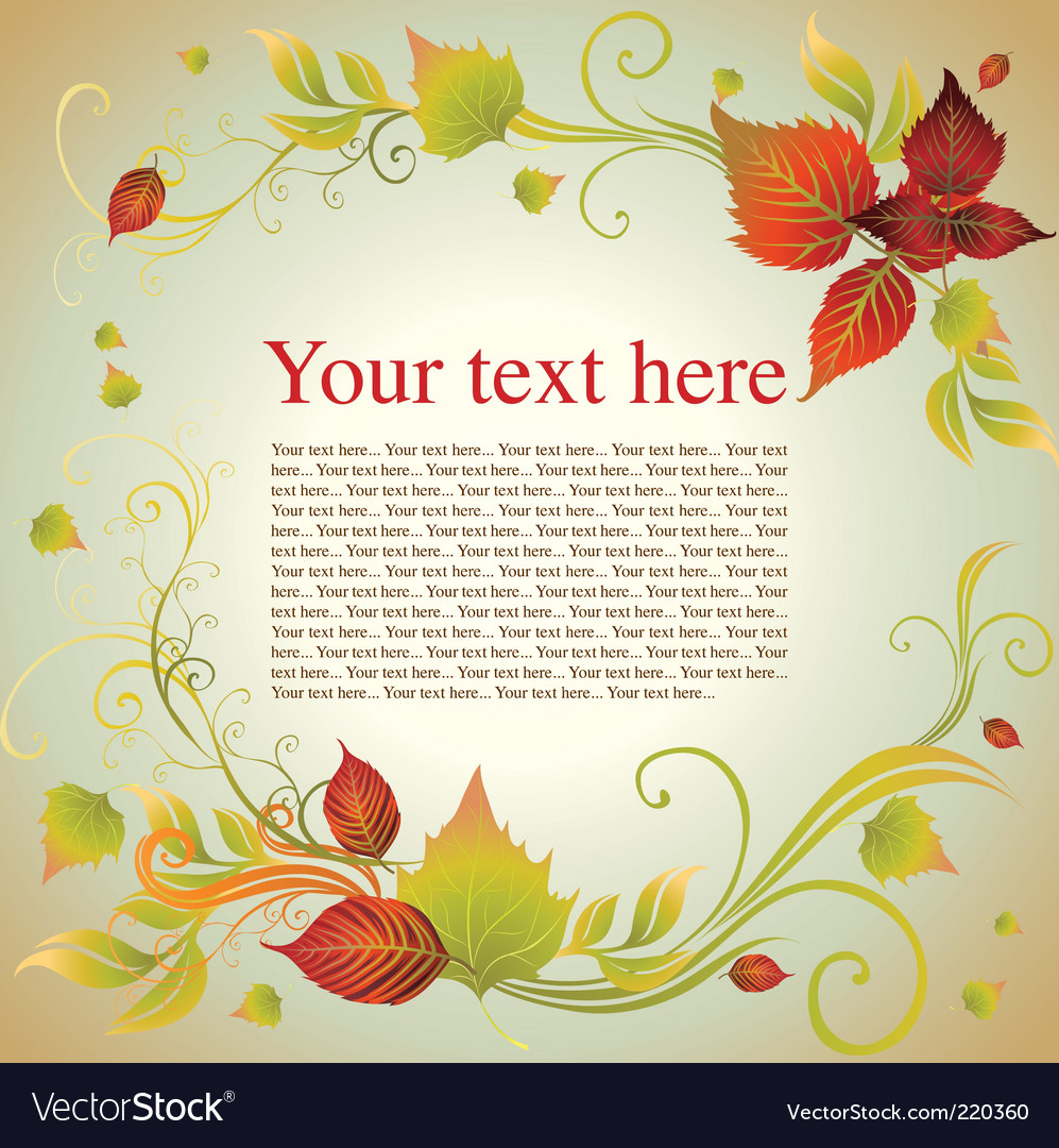 Thanksgiving frame Royalty Free Vector Image - VectorStock