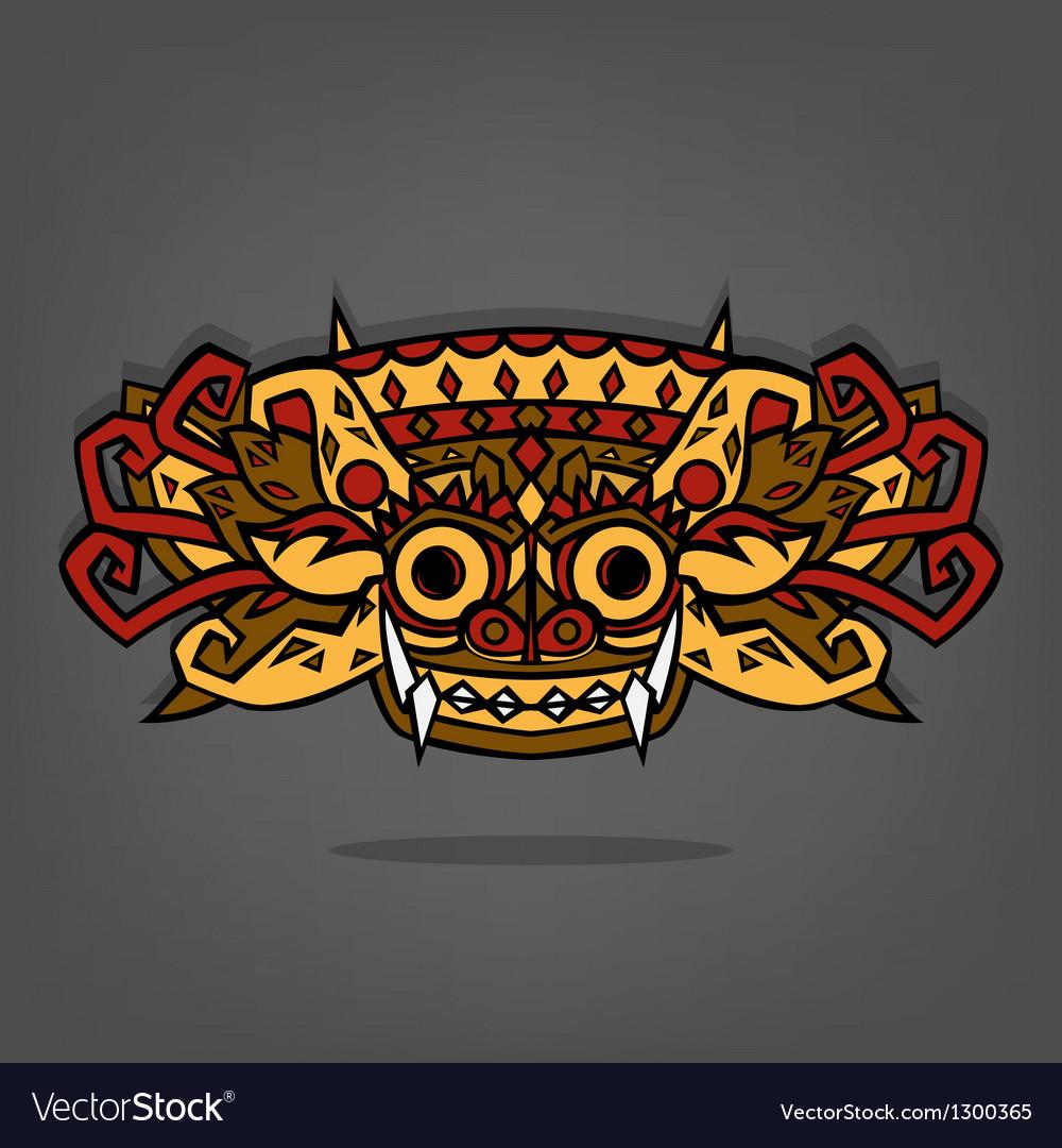 barong balinese traditional art royalty free vector image vectorstock