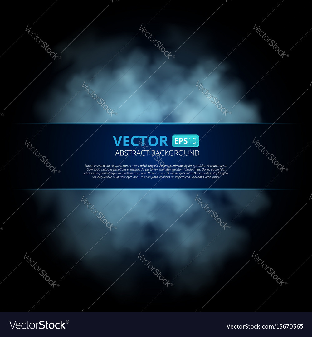 Blue color fog or smoke isolated on transparent