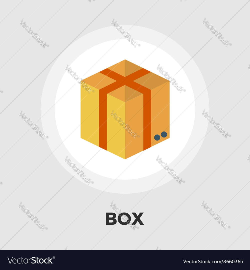 Cartoon Box flat icon vector image