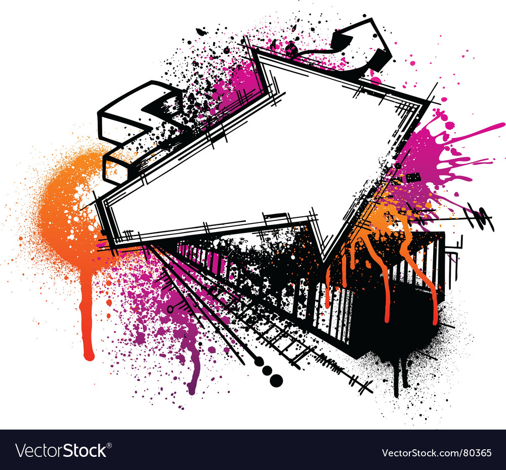 Graffiti arrow background vector image
