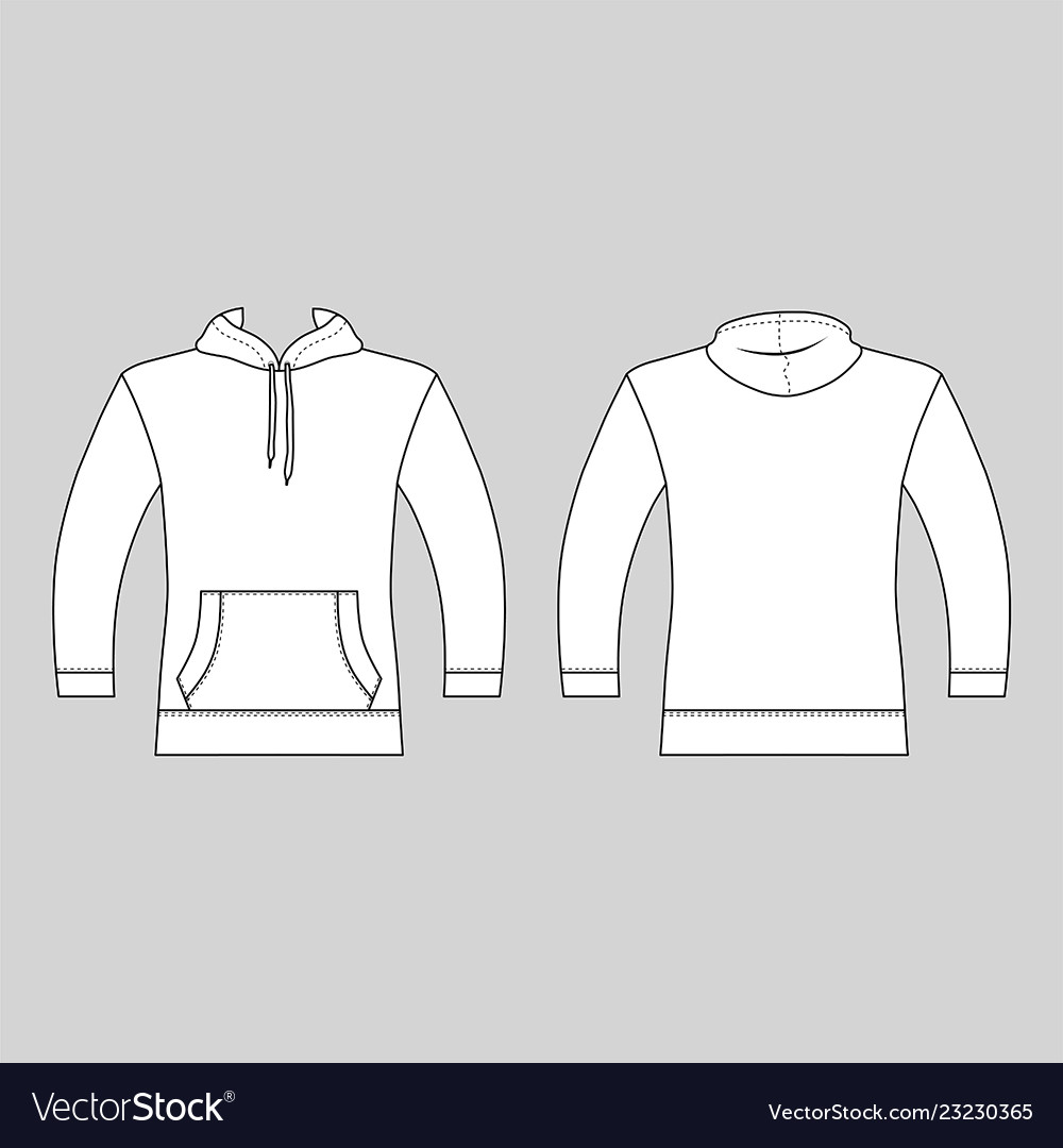 68f76a8d0cd Hoodie man template front back views
