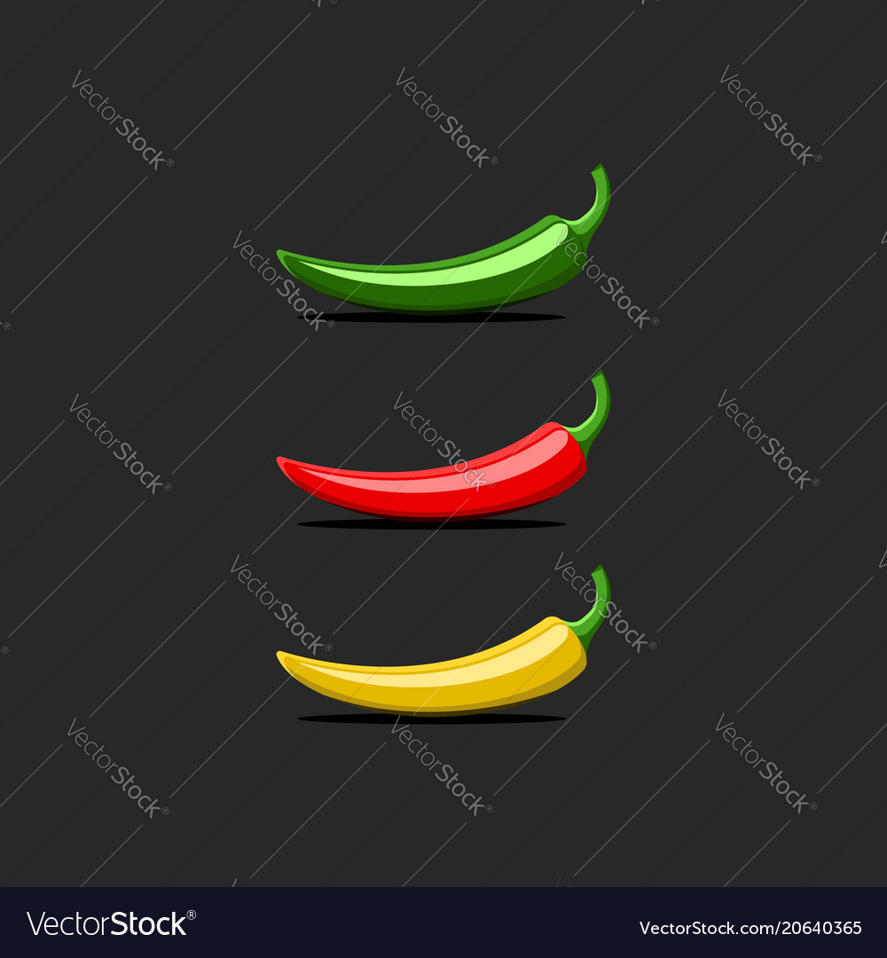 Hot chili pepper logo mockup mexican jalapeno red