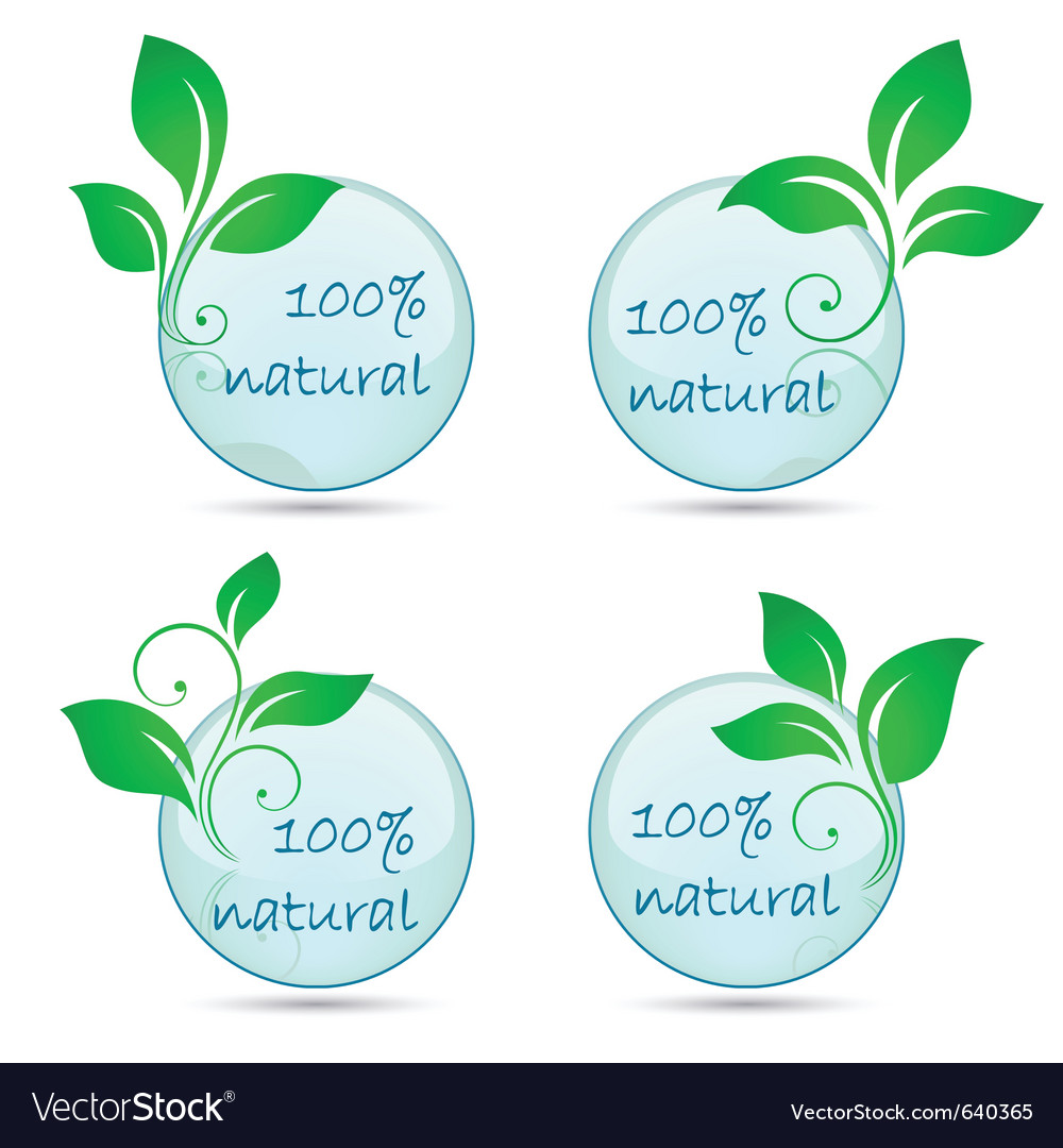 Icons 100 natural vector image