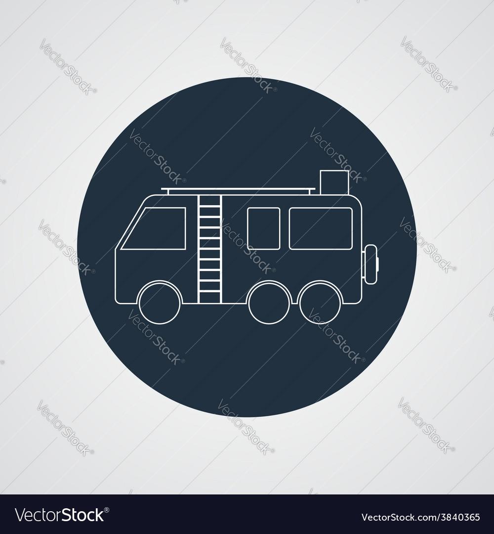 Motorhome Camper van icon Flat design vector image