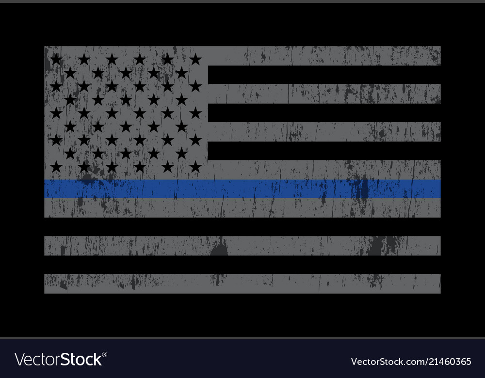 Police support flag grey Royalty Free Vector Image 0bd3ae0bd55