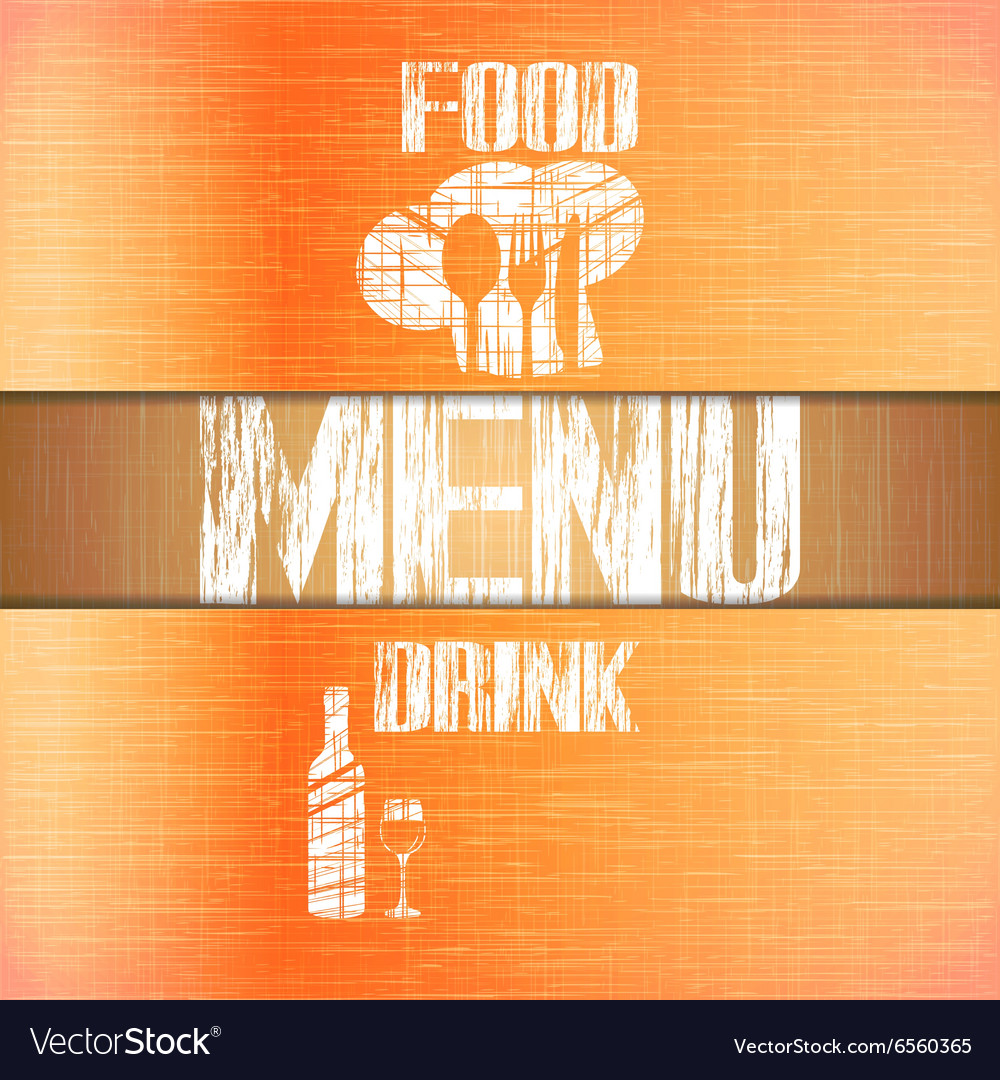 Restaurant menu with corners uno vector image