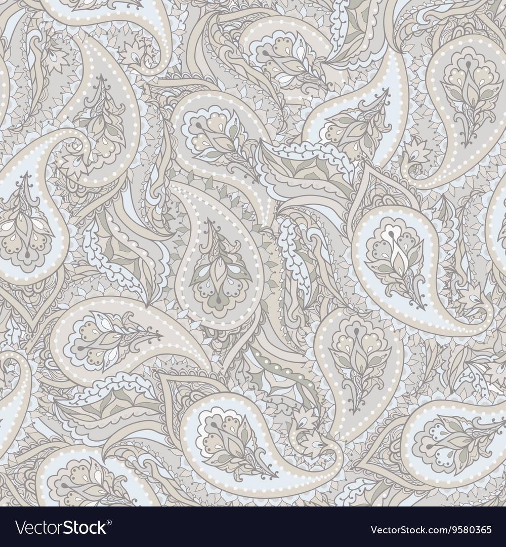 Seamless paisley Indian pattern