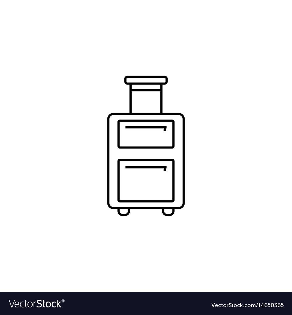 Travel luggage line icon travel tourism vector image