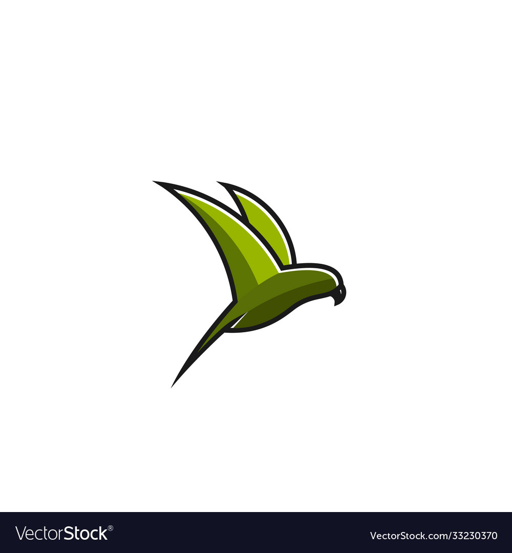 Abstract-flaying-bird-full-color-logo-template