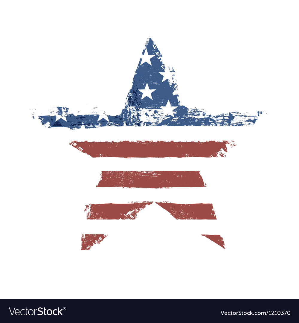 American flag star shape