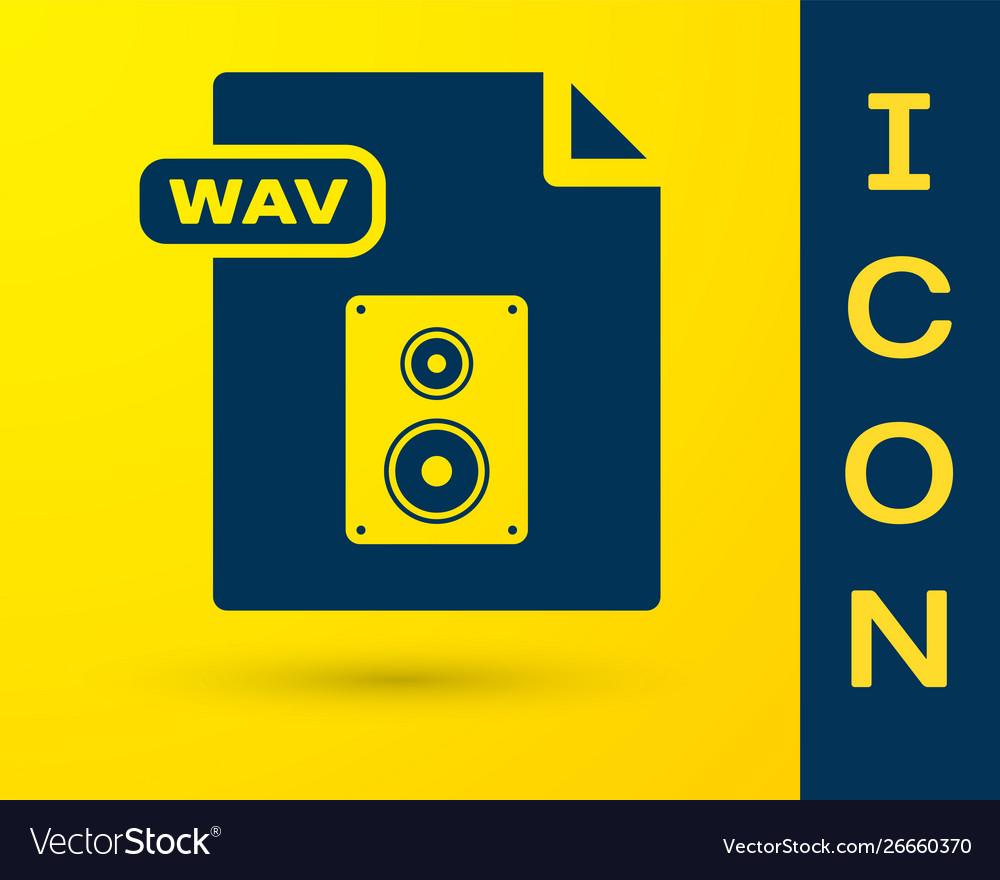 Blue wav file document download wav button icon