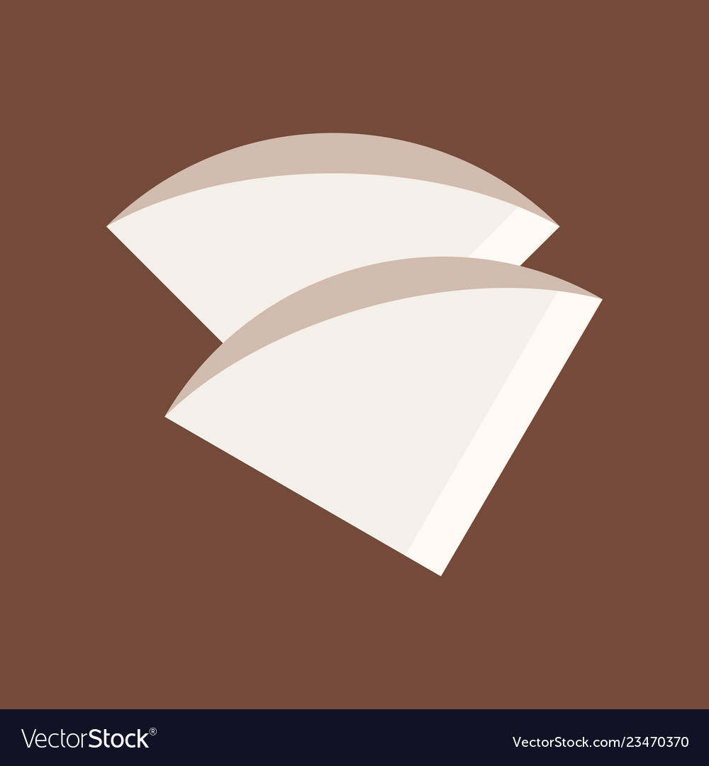 Coffee Filter Coffee Related Flat Style Icon Vector Image