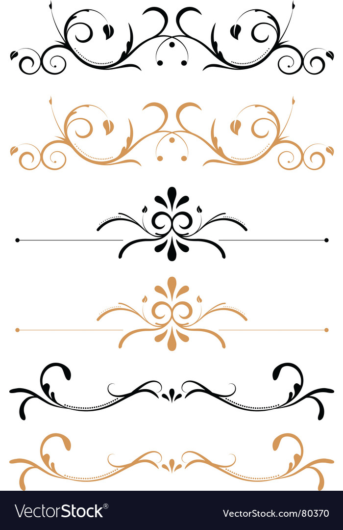 Floral page decorations
