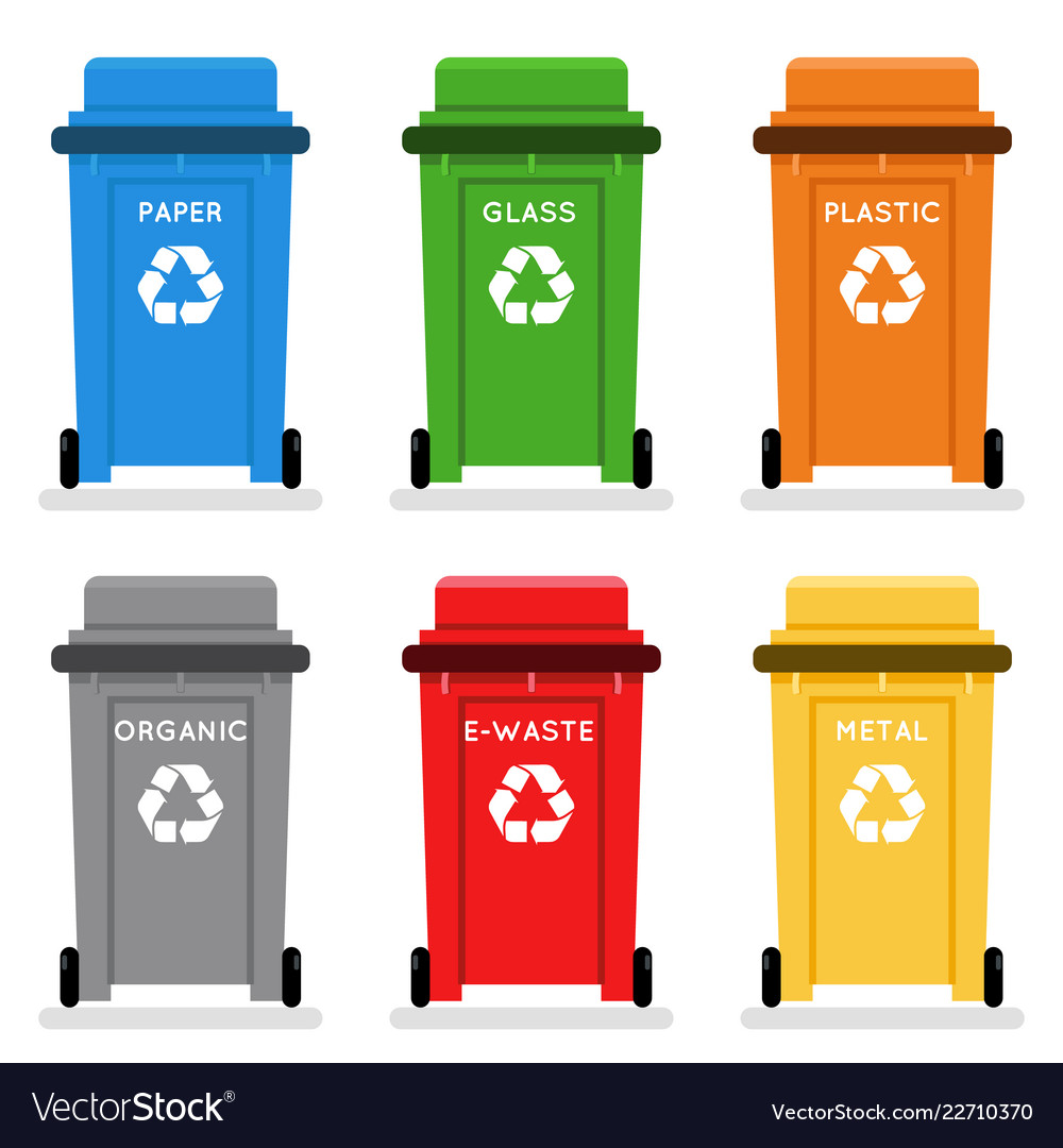 Garbage Cans Trash Separation Recycling