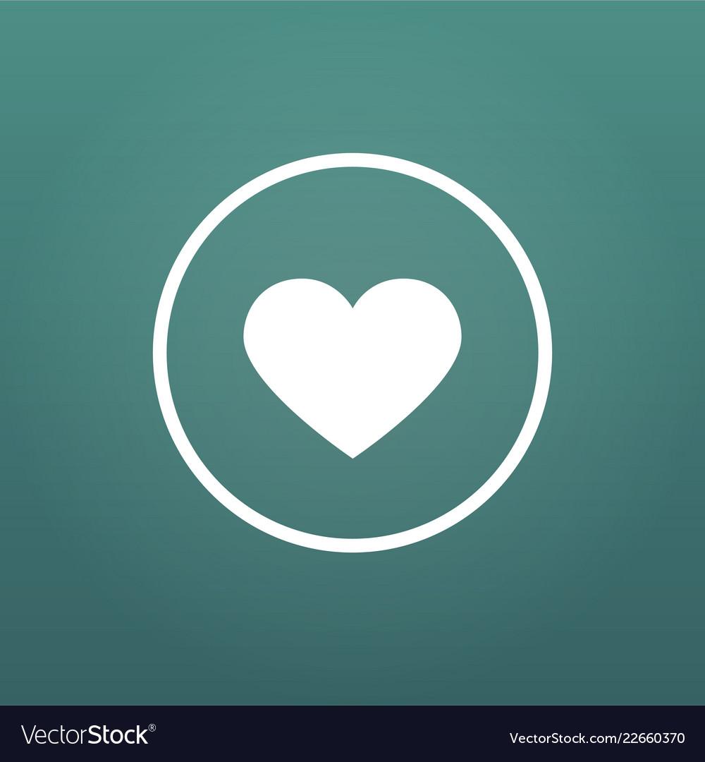Like or favorite heart icon social media like
