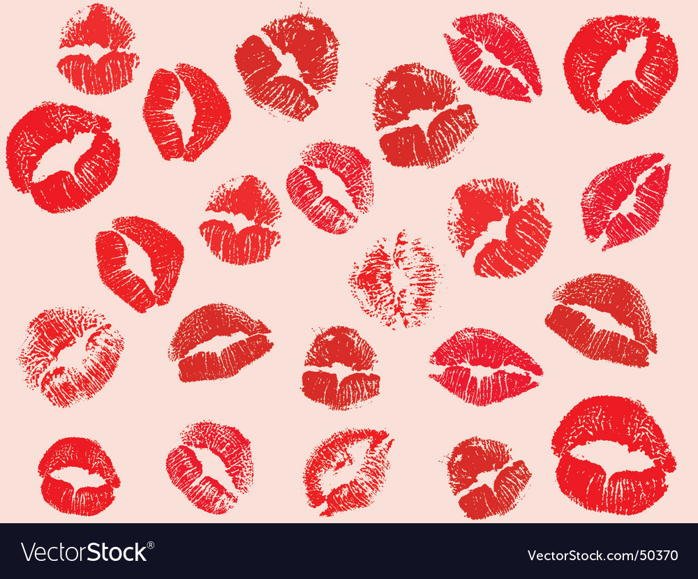 Pictures Of Lipstick Kisses. Lipstick Kisses Vector
