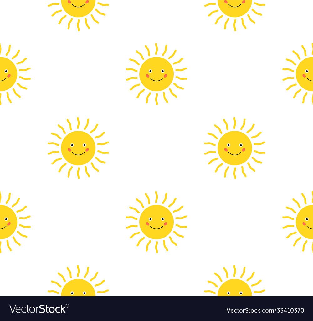 Sun cute seamless pattern print sunshine summer