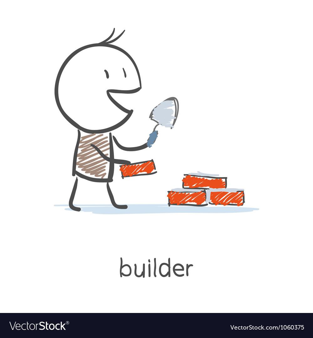 Builder Worker vector image