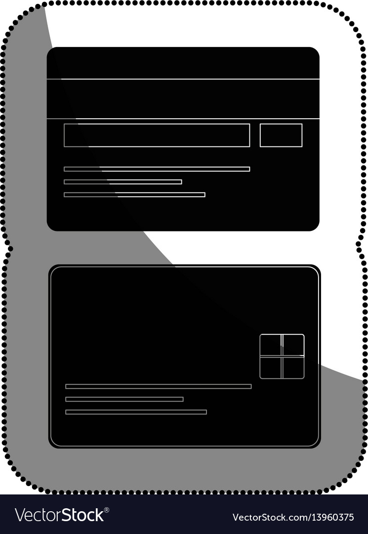 Credit cards isolated icon