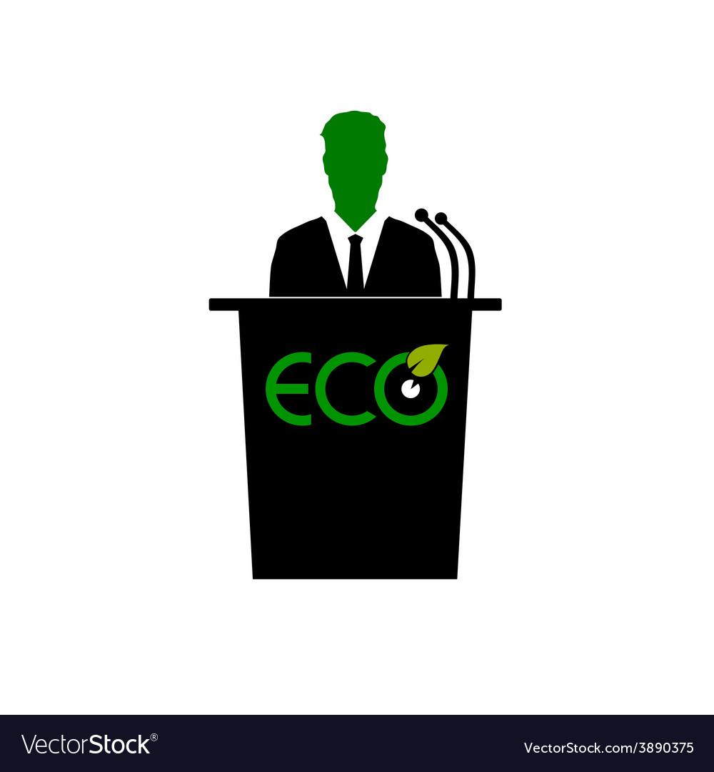 Eco orator color vector image