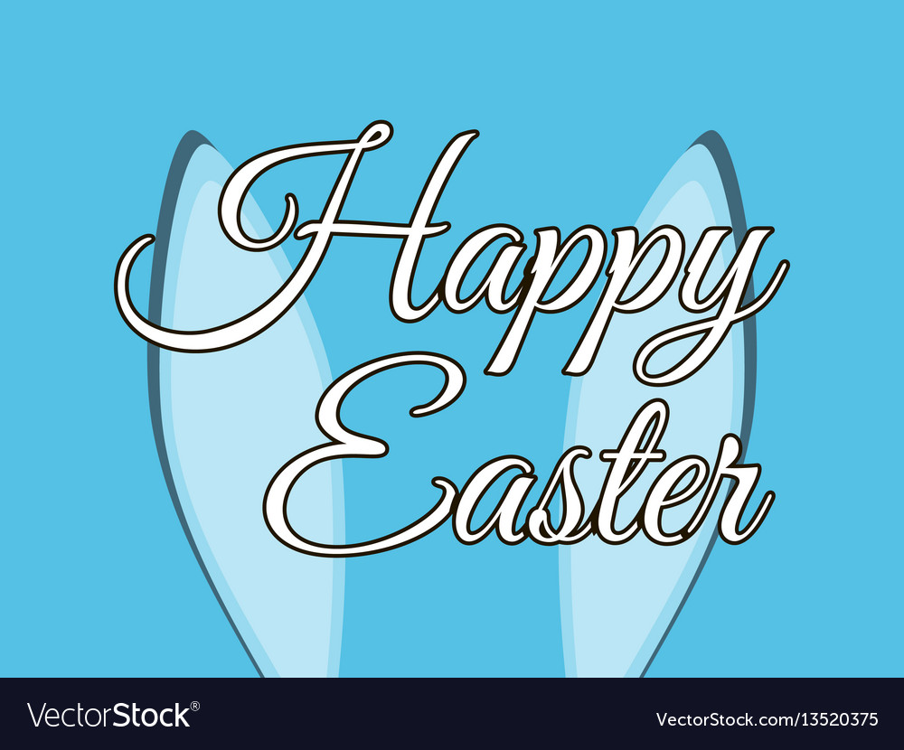 Happy easter the rabbit ears