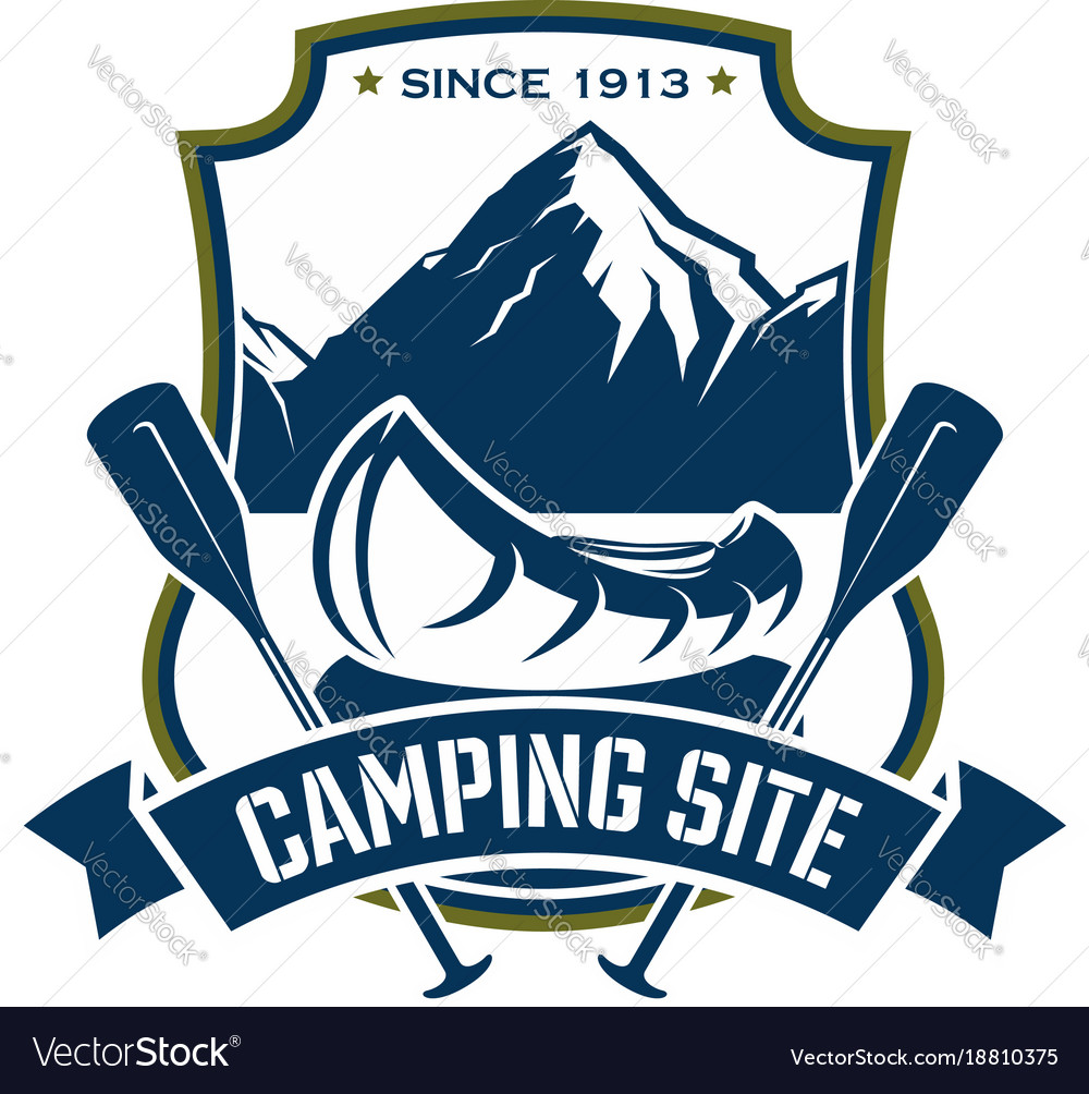 Icon for camping site sport adventure