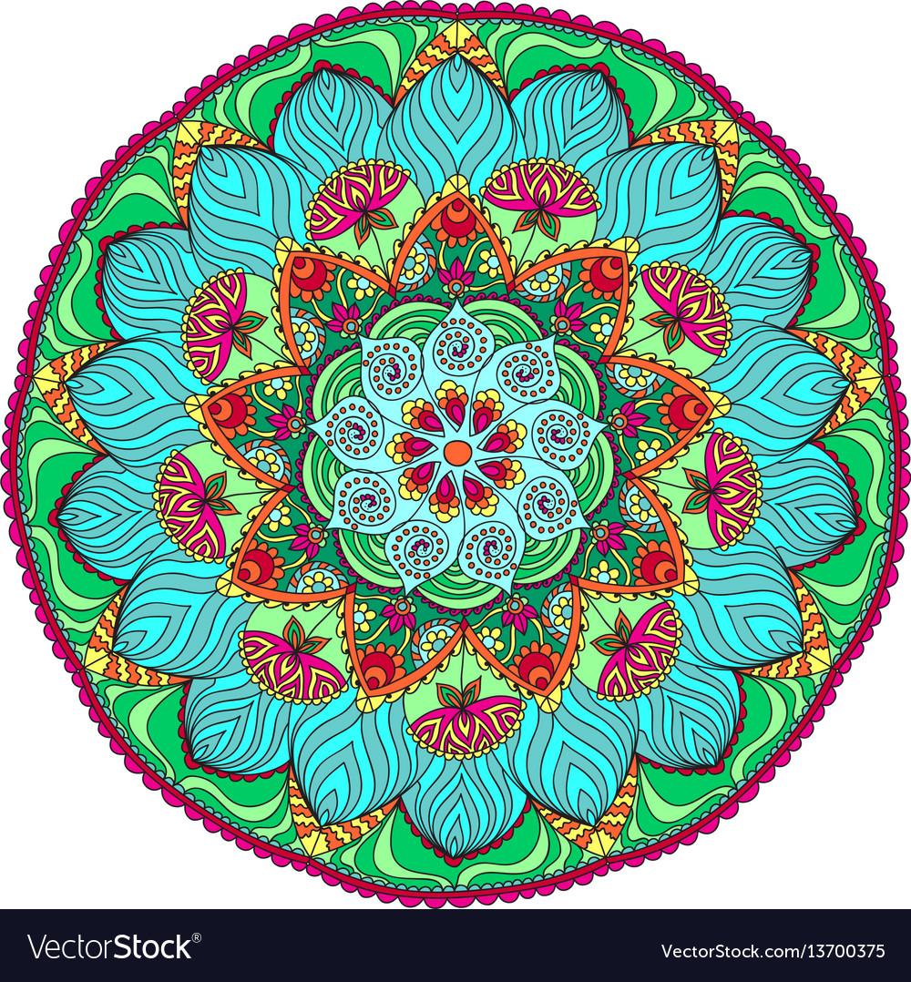 Mandala background vintage decorative elements
