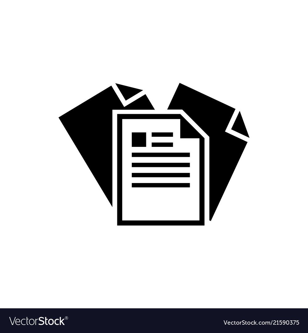 Paper document flat icon