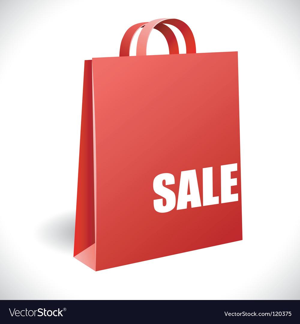 Sale bag vector image